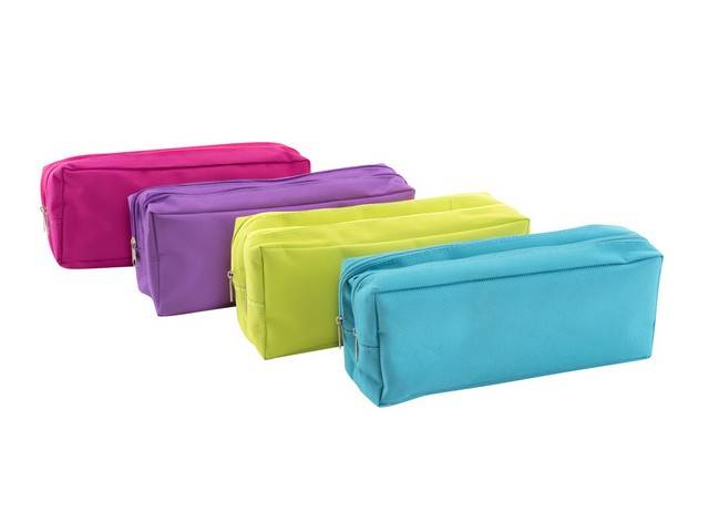 Trousse Rectangulaire 2 Compartiments Couleurs Assorties