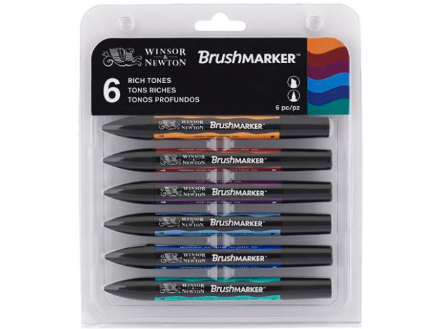 ASSORTIMENT 6 BRUSHMARKER TONS RICHES