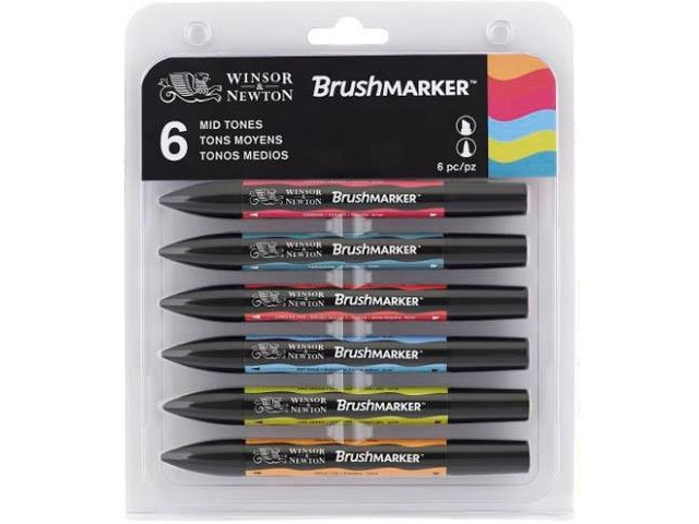 Assortiment 6 Brushmarker Tons Moyens